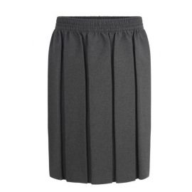 Grey Fully Elasticated Box Pleat Skirt