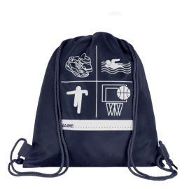 Navy Printed P.E Bag