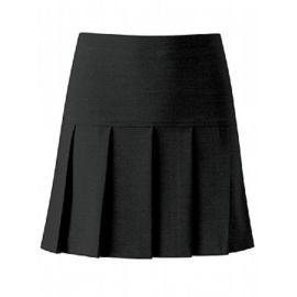 Black Charleston Pleated Skirt