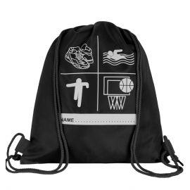 Black Printed P.E Bag